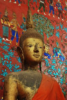 Buddha against colorful background | Flickr - Photo Sharing!