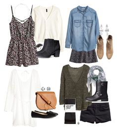 """Allison Inspired H&M Outfits"" by veterization ❤ liked on Polyvore featuring H&M"