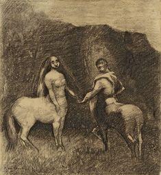 odilon centaure et centauresse