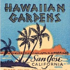 Hawaiian Gardens, San Jose, CA (restaurant) - Tiki Central Vintage Hawaii, Vintage Tiki, Vintage Travel, Tiki Restaurant, Tiki Art, Tiki Tiki, Hawaiian Gardens, Tiki Lounge, Matchbox Art