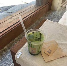 green, nature, aesthetic, outside, cafe Beige Aesthetic, Aesthetic Food, Aesthetic Girl, Ethereal Makeup, Ethereal Beauty, Japanese Aesthetic, Matcha Green Tea, Matcha Milk, Matcha Cake