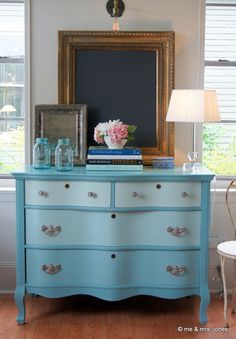 jessica's ombre dresser for a client...provence chalk paint® plus old white.  a custom piece from me & mrs. jones, memphis.