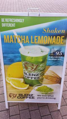 Matcha lemonade at Blenz Coffee, Vancouver San Pellegrino, Cold Drinks, Matcha, Lemonade, Vancouver, Drinking, Canning, Food, Cafes
