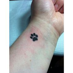 Paw print wrist tattoo! I finally did it. ❤ liked on Polyvore featuring accessories and body art