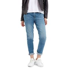 Topshop Moto 'Lucas' Mid RiseBoyfriend Jeans ($80) ❤ liked on Polyvore featuring jeans, blue, relaxed jeans, boyfriend fit jeans, faded jeans, blue jeans and topshop jeans