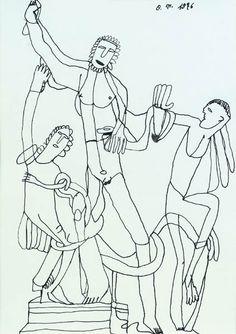 outsider art: Oswald Tschirtner