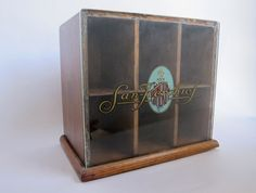 Vintage Pomeroy Chicago San Kerchief Counter Advertising Display Case