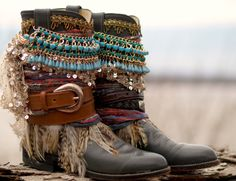 Items similar to TALL full height any style & size boots Upcycled style REWORKED vintage COWBOY Boots - boho boots - western boots - knee high leather boots on Etsy Bohemian Boots, Gypsy Boots, Boho Shoes, Cowgirl Boots, Western Boots, Hippie Shoes, Masai Mode, Botines Boho, Design Shop