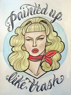 Wanda Woodward Cry-baby Art Print by gypsyfirecracker on Etsy Cry Baby Tattoo, Baby Tattoos, Head Tattoos, License Plate Art, Neo Traditional Tattoo, Stuff And Thangs, Future Tattoos, Rockabilly, Aurora Sleeping Beauty