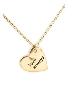 Love Engraved Pendant Necklace.