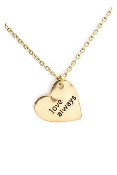 Love Engraved Pendant