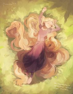 "Source: ""Fairy Tales"" Characters: ""Rapunzel"" Artist: ""Panbukin"""