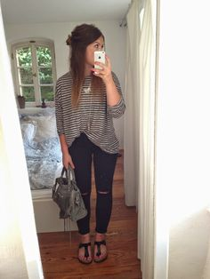 77P7ZY: the striped tee