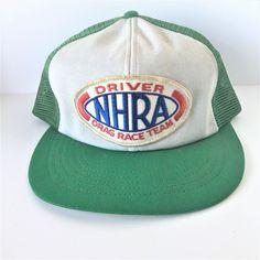 Driver NHRA Drag Race Team Blue Green  Adjustable Snapback Regular Baseball Cap  #Unknown #BaseballCap