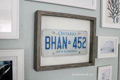 DIY wall art: frame a sentimental (or vintage) license plate.