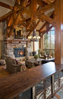 Great room fireplace and screen design