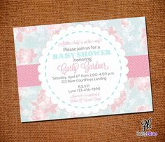 Shabby Chic Baby Shower Invitation Vintage by ZoeyBlueDesigns, $10.00