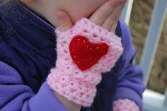 Crochet Fingerless Mittens - Tutorial  ❥ 4U // hf