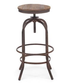 Take a look at this Distressed Natural Twin Peaks Bar Stool by Zuo Modern on #zulily today! $150 !!