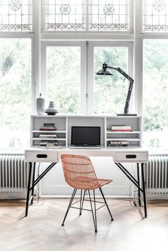 beautiful windows and desk inspiration
