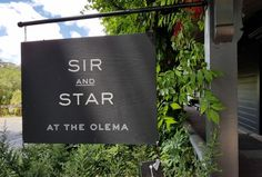 Sir and Star in Olema.