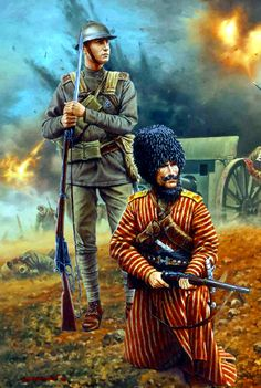 Latvian Rifle and Turkmen Horse troopers , Russian Civil War