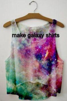 DIY Galaxy T-shirt - Bleach, Acrylic paint