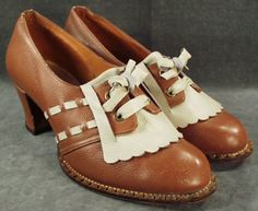 1930's two tone oxfords