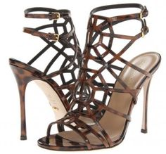 Tease and tantalise in tangled Sergio Rossi sandals