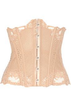 La Perla  Lace-trimmed perforated leather waist corset 2012 - this is gorgeous