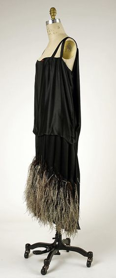 ~Ensemble (with Hat) (a) House of Worth (French, 1858–1956) Designer: (b) Hat by Amicy-Boinard (French) Date: 1924–25 Culture: French Medium: (a) silk, ...~