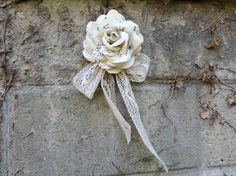 Paper Flower Door Decoration Wedding Home Decor by CeeBeeRecycle, $25.00