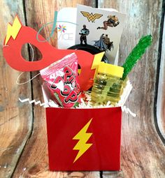 The Flash Inspired Favor Boxes by Jatyourservice on Etsy   Superhero party favors