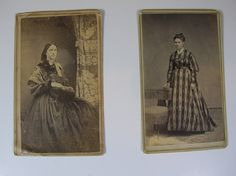 Civil War Era photograph. Print dress. 1860s
