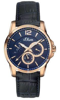 f7440f591113 s.Oliver - Reloj Analógico de Cuarzo para Hombre