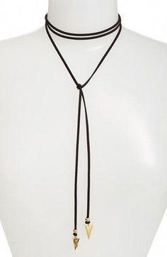 0bd9fa2d3e093a Vanessa Mooney 'Arrow' Faux Suede Lariat Choker $40.00 Item #5219505 #genre