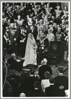The church wedding ceremony of Princess Juliana (later Queen Juliana) of the Nertherlands and Bernhard of Lippe-Biesterfeld