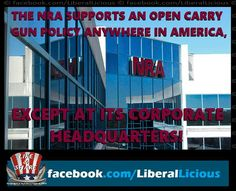 No open carry at NRA headquarters.