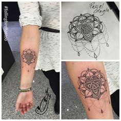 Mandala triskele Tattoo triscele triskelle Britannien Falling Bird Tattoo Studio pascal Glagla