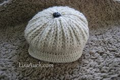 Cute as a Button Brimmed Cap Hat for Baby