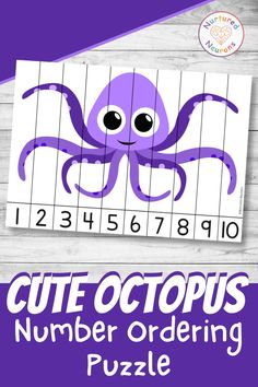 Help your little learners develop their number ordering and number recognition skills with this cute sea animal printable. Can they help put back the poor octopus by correctly ordering the pieces of the puzzle? Find out over at Nurtured Neurons! #octopus #seaanimals #oceantheme #numberpuzzles #numbersequencing #kindergartenmath #preschoolmath #mathpuzzles #kindergartenworksheets Counting Activities, Math Games, Toddler Activities, Little Octopus, Cute Octopus, Preschool Math, Kindergarten Worksheets, Parenting Toddlers, Parenting Hacks