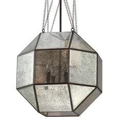 Refractive Panel Lantern medium size antique mirror glass $489