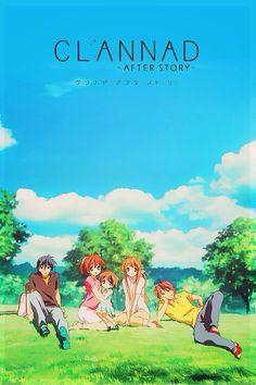 Tomoya, Nagisa, Ushio, Sanae, and Akio  _Clannad