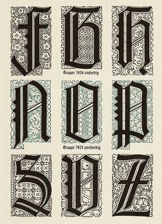 Liturgisch Initials, 1908, Klingspor Foundry
