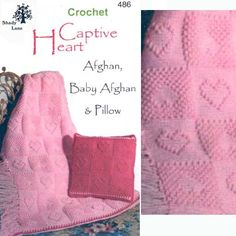 3d illusion afghan block pattern | Captive Heart, #486. Includes afghan, baby afghan and pillow ...