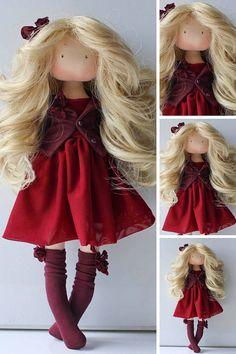 Art doll Lady present Soft doll Cloth doll Handmade doll Best