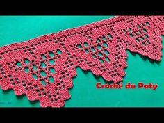Easiest Crochet Frills Border Ever! Lace Patterns, Cross Stitch Patterns, Crochet Patterns, Crochet Tree, Crochet Doilies, Crochet Blocks, Crochet Squares, Filet Crochet, Knit Crochet