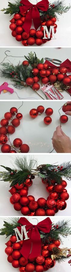 Last Minute DIY Christmas Decorations on a Budget – Picture Frame Wreaths : Mono… – The Best DIY Outdoor Christmas Decor Small Christmas Trees, Noel Christmas, Winter Christmas, Christmas Wreaths, Christmas Ornaments, Christmas Ideas, Simple Christmas, Christmas Vacation, Christmas Christmas