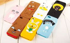 KAKAO TALK FRIENDS iPhone 5, 6, 6 Plus Cell Phone Silicone Case Cover Protector