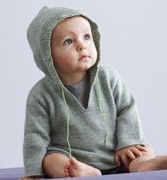 Modèle pull bébé à capuche - Modèles tricot layette - Phildar
